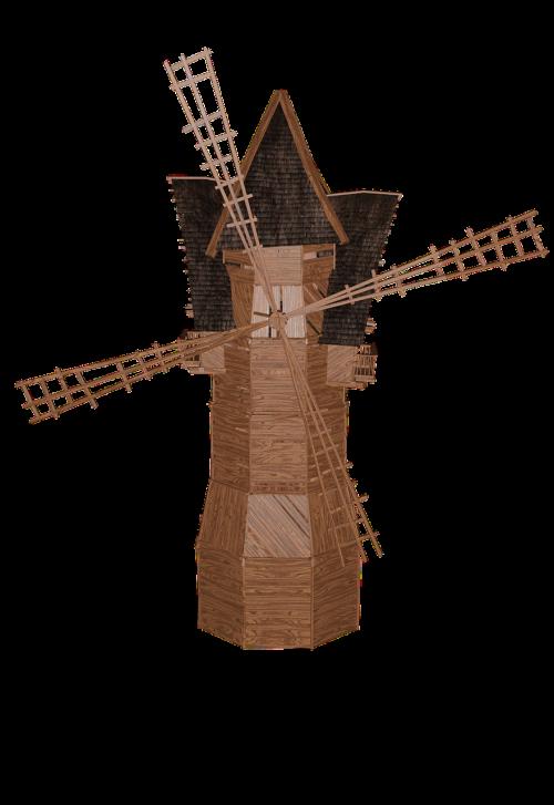 windmill building flour mill