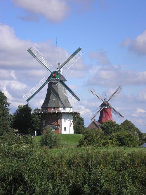 windmill greetsiel north sea