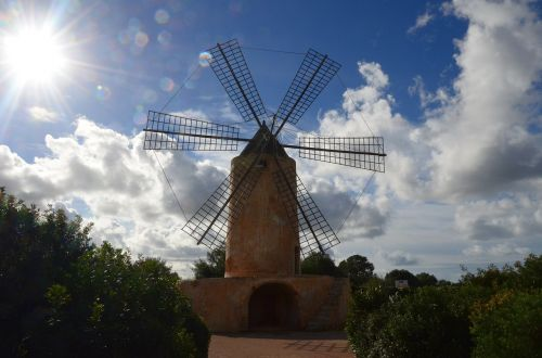 windmill,mill,mallorca,spring,wind,windräder,wind power,turn,wing,grind,mills,flour mill