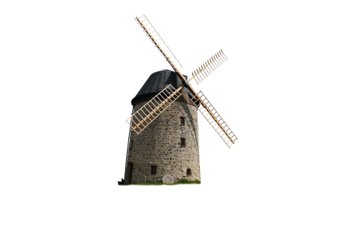 windmill isolated old