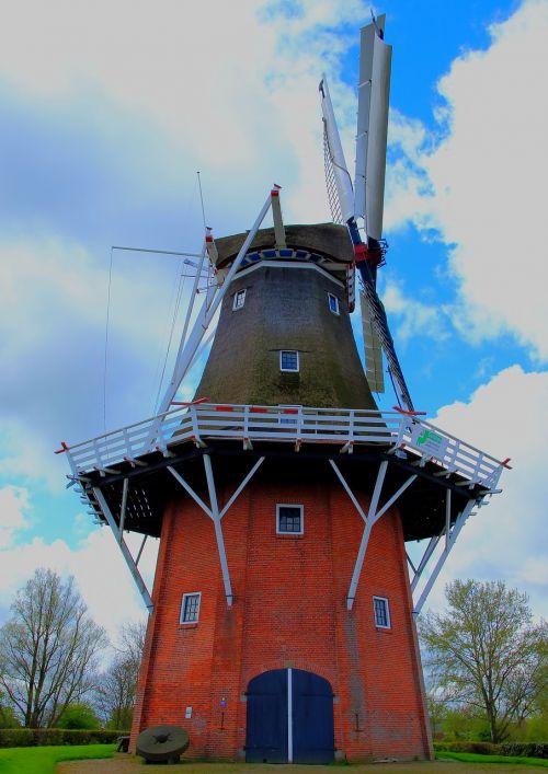 windmill wind power mill