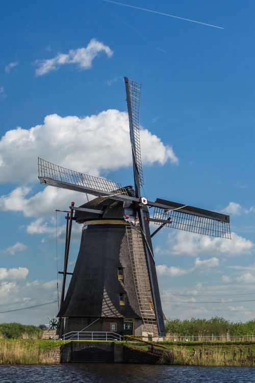 windmill netherlands kinderdijk