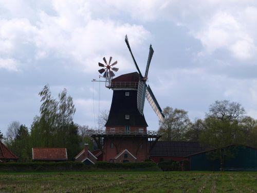 windmill flour mill mill