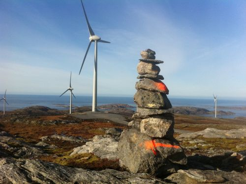 windmill wind farm mountain