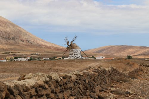 windmills canary islands fuerteventura