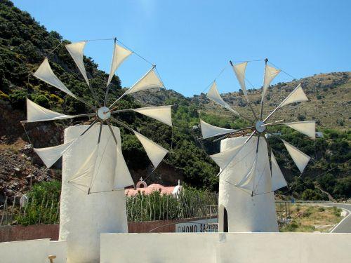 windmills island of crete plateau