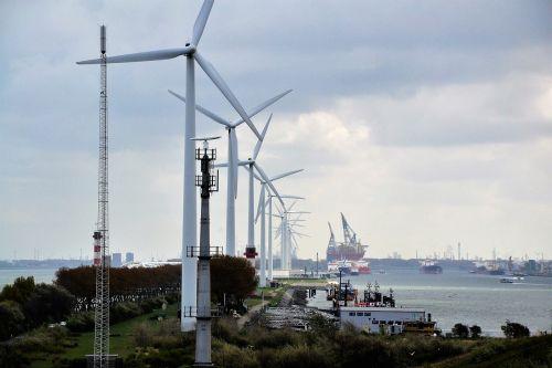 windmills energy rotterdam