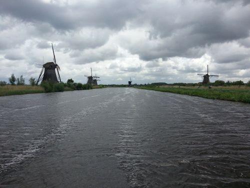 windmills river riverside