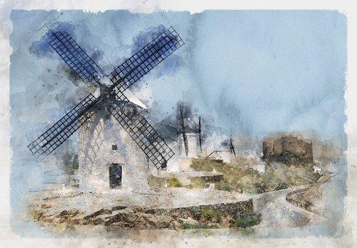 windmills  wind power  mills