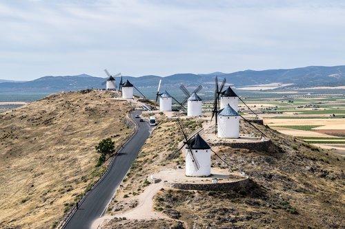 windmills  consuegra  don quixote