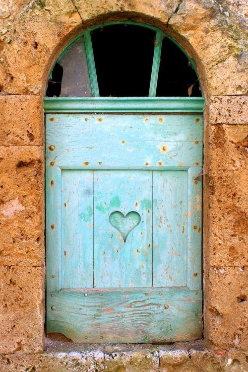 window shutter heart