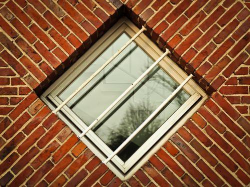 window brick facade
