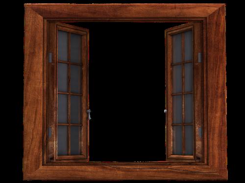 window wooden windows open