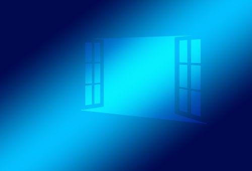 window open blue