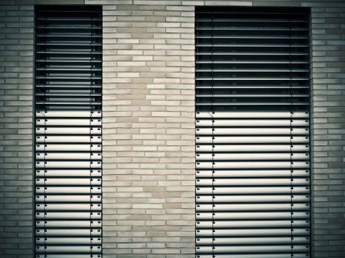 window architecture venetian blinds