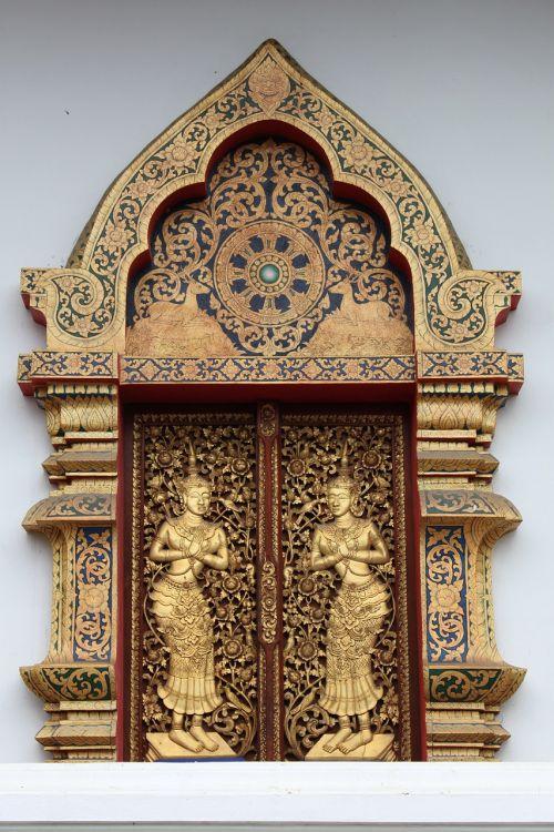 window temple carve