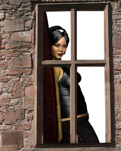 window exterior girl