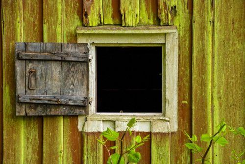 window old wood window door
