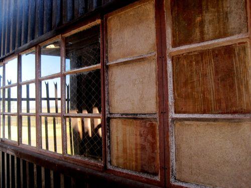 window row of windows opaque panes