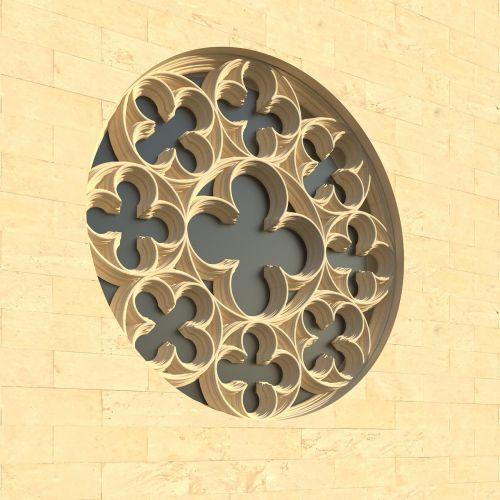 window rosette church window