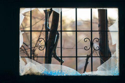window broke glass