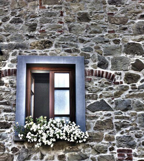 window flowery window house