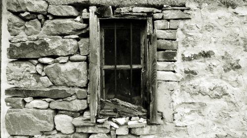 window ruined old