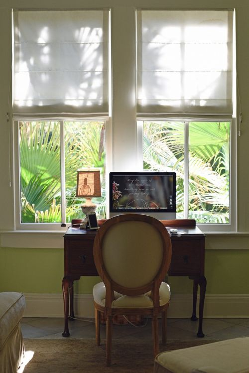 window desk workspace