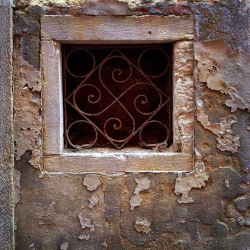 window stone ironwork