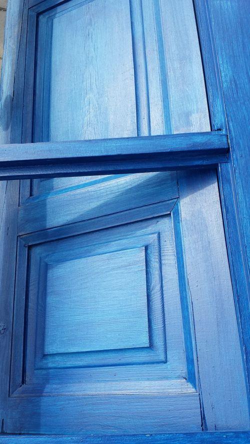 window blue wood