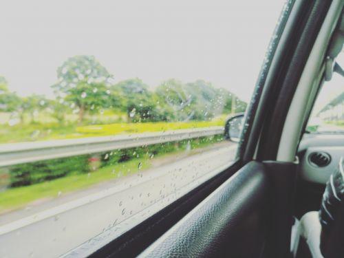 window rain car
