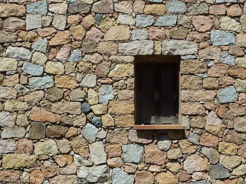 window corsican wall