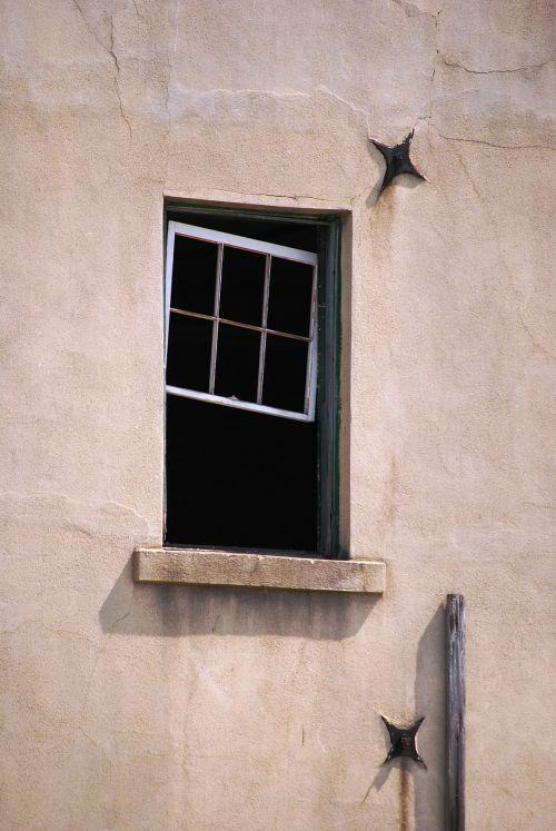 window broken window open window