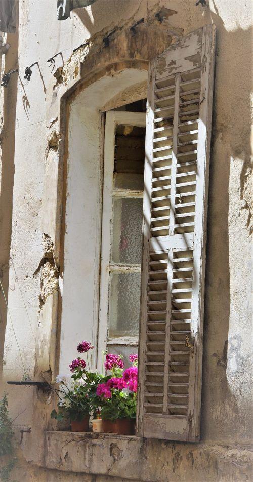 window old building