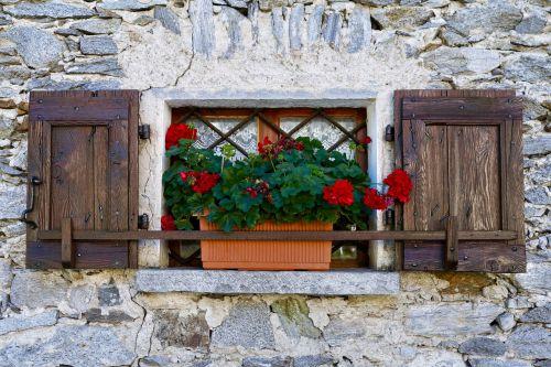 window stone house building