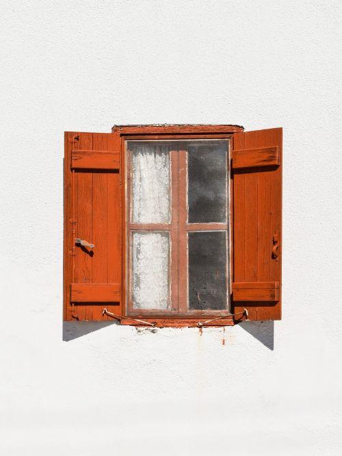 window wooden brown