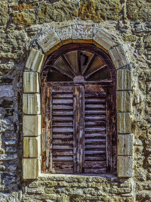 window aged weathered