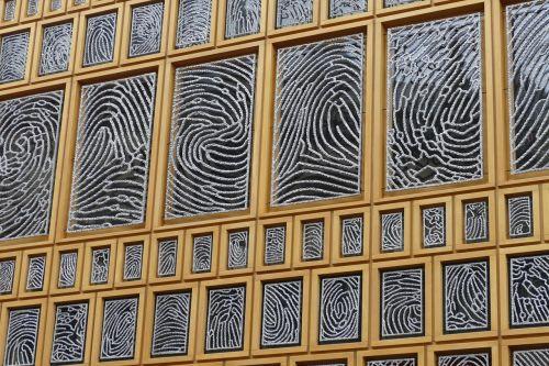 window glass fingerprint