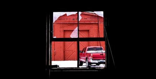 window  truck  red