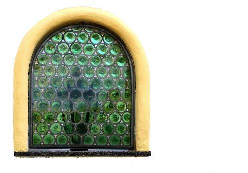 window slug glass bullseye
