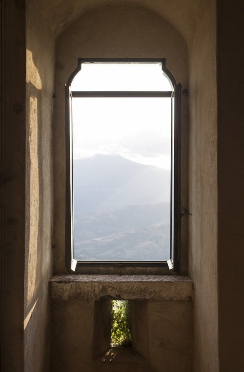 window  landscape window  castle