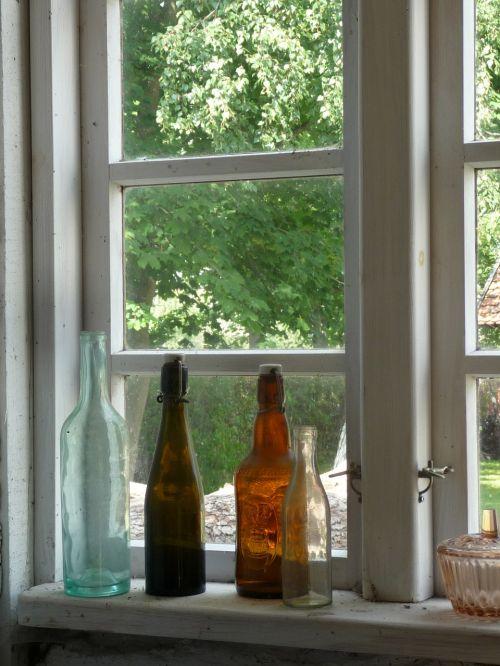 window bottles glass