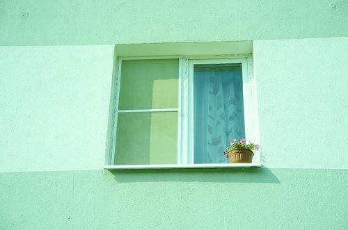 window  building  ledge