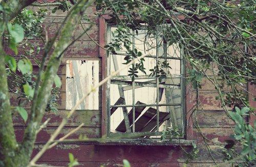 window  destroyed  broken