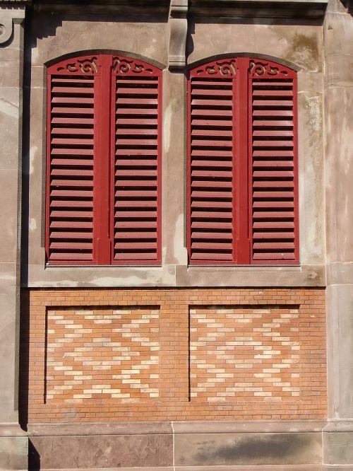 window shutters facade
