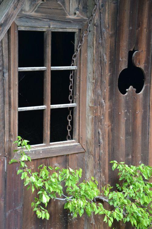 window old hut