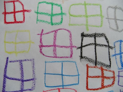 window children drawing pattern