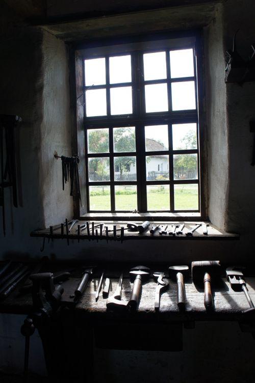 window blacksmith the countryside
