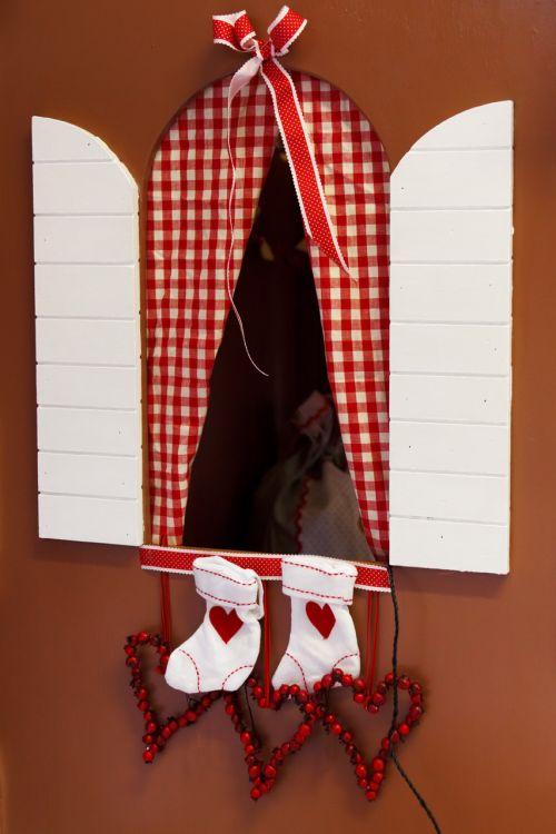 Window And Christmas Stocking