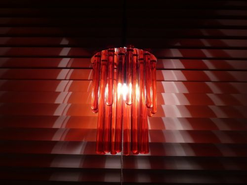window lamp glass rods blinds